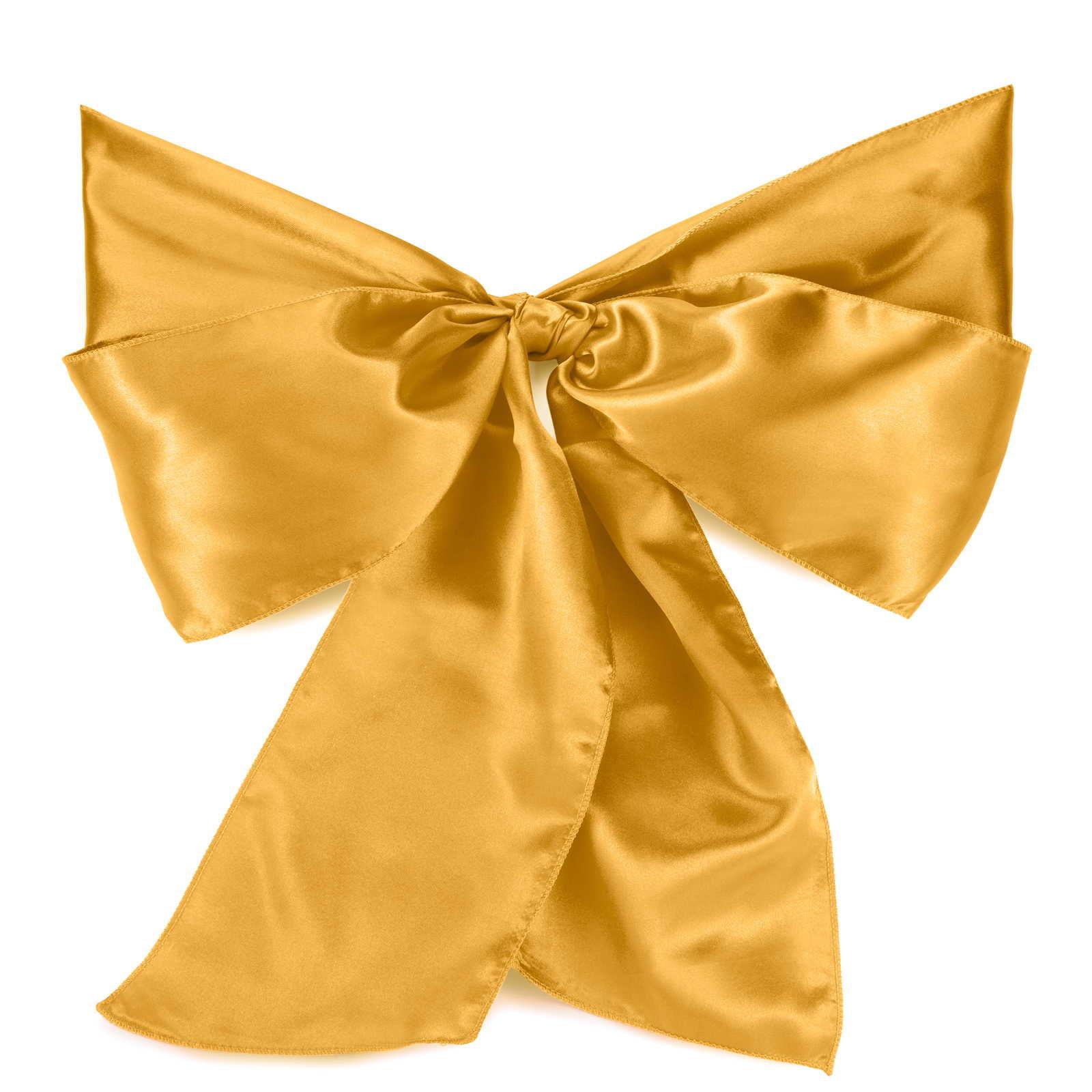 Lann's Linens - 10 Elegant Satin Wedding/Party Chair Cover Sashes/Bows - Ribbon Tie Back Sash (Multiple Colors)