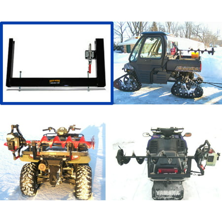 Digger Ice Auger Carrier for ATV - Snowmobile Ice Fishing Auger