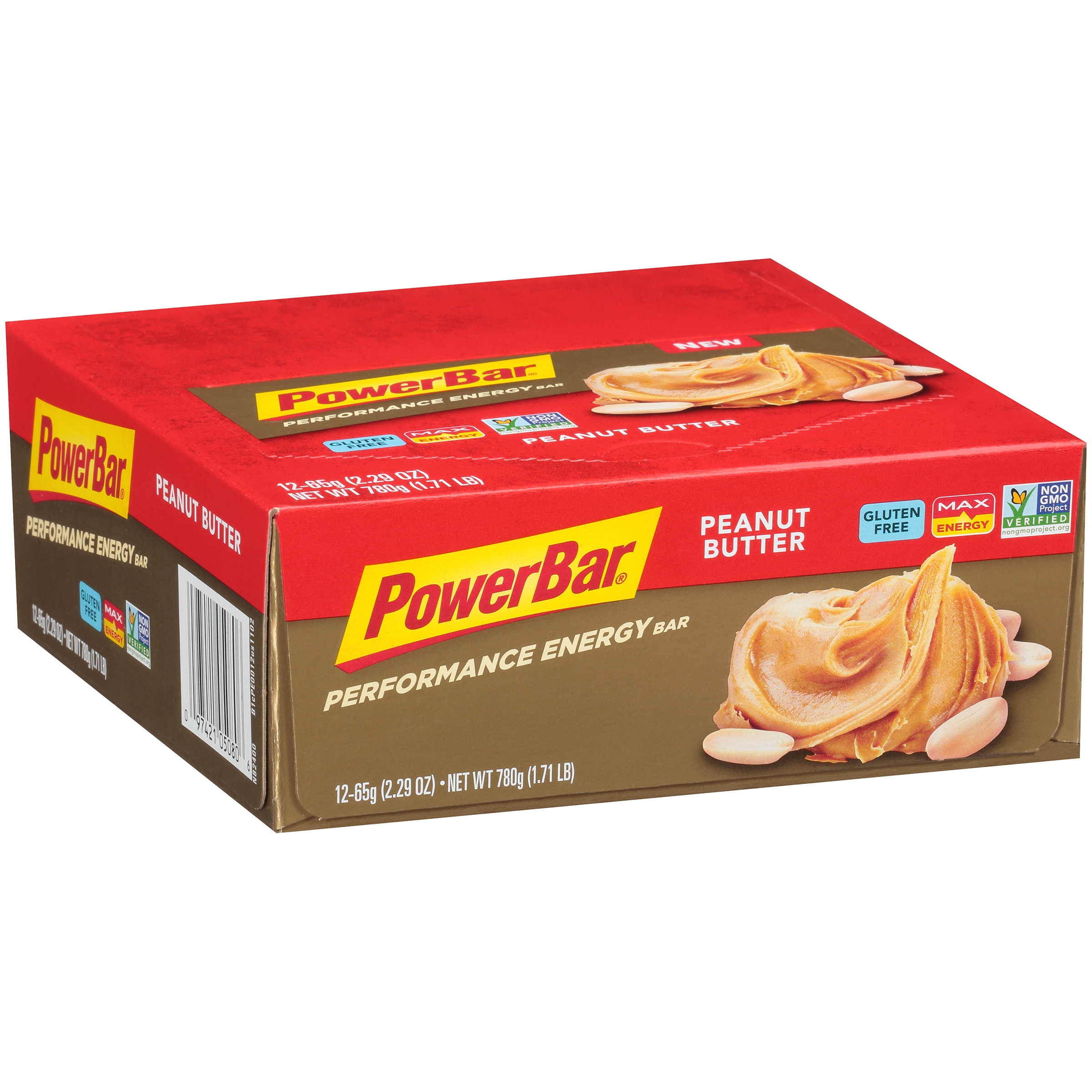 Powerbar Performance Energy Bar, 10 Grams of Protein, Peanut Butter, 2.29 Oz, 12 Ct