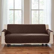 BrylaneHome Bh Studio Water-Repellent Microfiber Extra-Long Sofa Protector