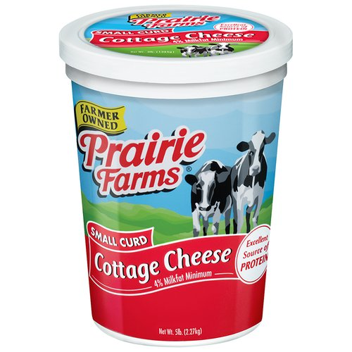 Prairie Farms Small Curd Cottage Cheese, 80 Oz.