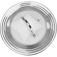 Modern Innovations Universal Lid for Pots, Pans and Skillets, Fits All 7 inch to 12 inch Pots and Pans(Stainless Steel)