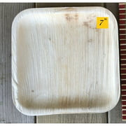"""7"""" Flat Square Plate - Bio Mart Leaf Tableware/100% Natural-Eco-friendly/Re-usable/Elegant/Compostable/Disposable/Biodegradable/Party,Wedding,BBQPlates & Bowls - Pack of 100"""