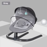 Baby Swing ChairLightweight Newborn Sleeping Crib  Infant Bouncer Rocking SeatWith Folding Mosquito Tent & Hanging Toys Kids Care