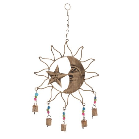 GwG Outlet Metal Sun Moon Wind Chime 11