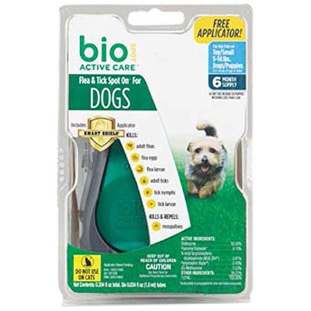 - Bio Spot Active Care Flea & Tick Spot On W/ Applicator for Small Dogs 5-14 Lbs