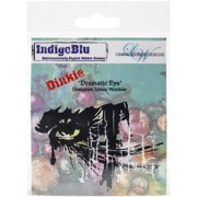 """IndigoBlu Cling Mounted Stamp 4""""X3""""-Dramatic Eye - Dinkie"""