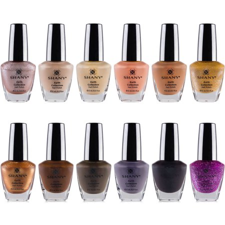 SHANY Earth Collection Nail Polish Set, 12 count
