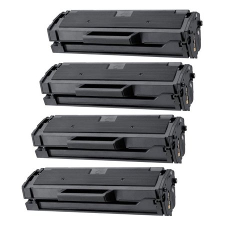 3pk Premium Solid Ink (Universal Inkjet Premium Compatible Samsung MLT-D101S Cartridges, 4-Pack)