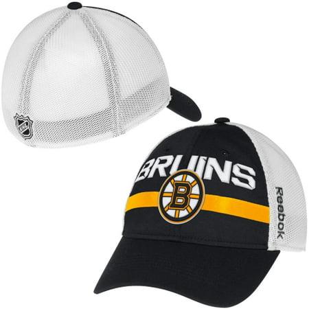 86a9d079cf5 Boston Bruins Reebok Center Ice Player Flex Hat - Black - L XL - Walmart.com