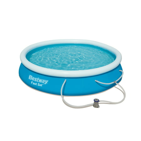 Bestway - Fast Set Pool Set, 12 Feet x 30 Inches (Contents Pool, Filter