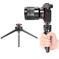 Neewer Mini Tabletop Tripod Stabilizer Grip, Lightweight Portable Aluminum Alloy Stand with Swivel Ball Head for DSLR Cameras, Smartphones, Video Camcorders up to 6.6 pounds/3 kilograms (Black)