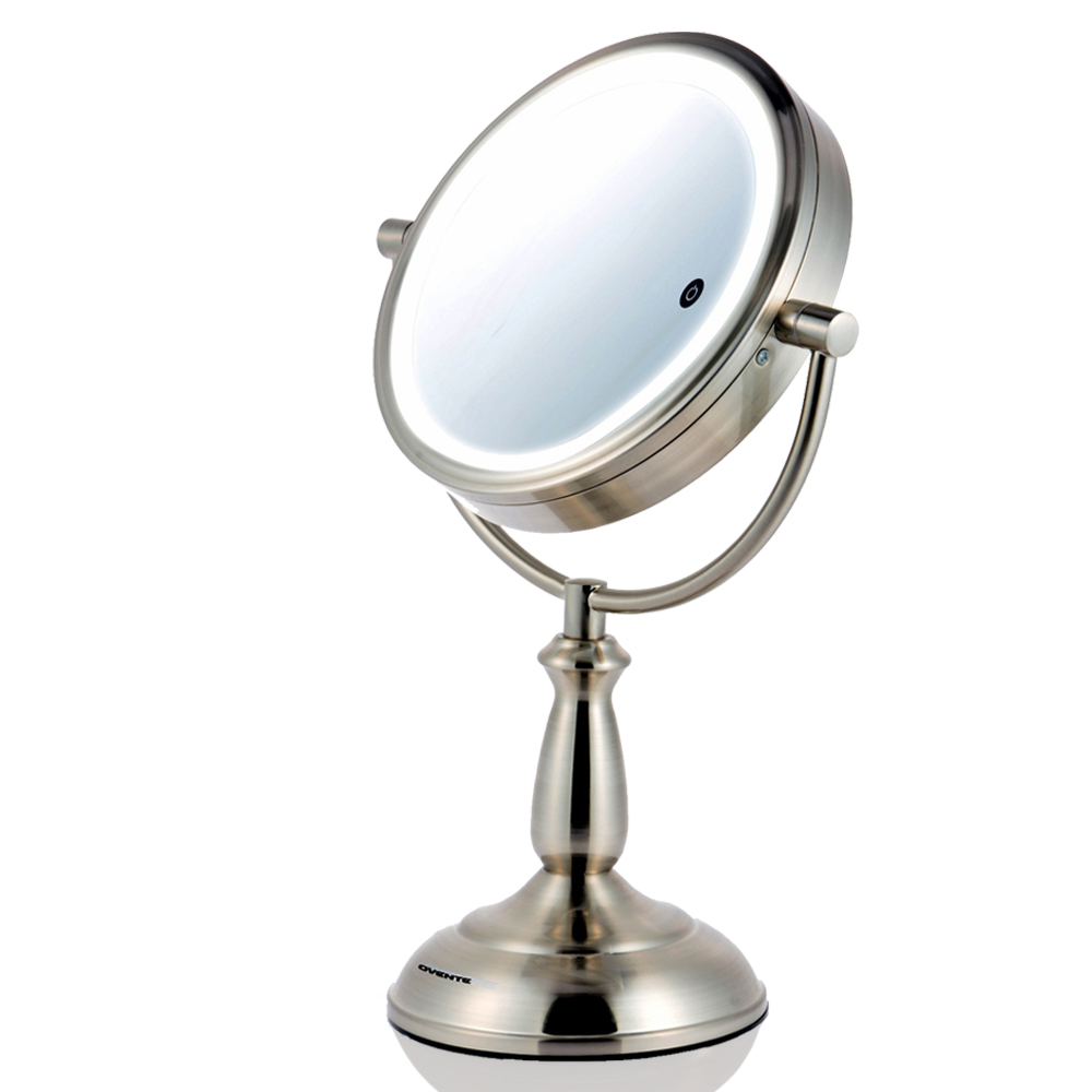 Ovente MPT85BR1x10x 8.5 Inch SmartTouch Three Tone LED Makeup Mirror, Tabletop  Vanity Mirror, 1x