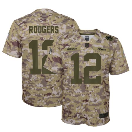 Aaron Rodgers Green Bay Packers Nike Youth Salute to Service Game Jersey - Camo (Packer Jersey Youth)