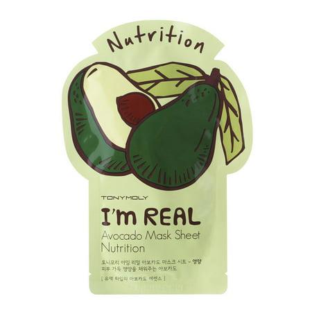 Tonymoly I'M Real Avocado Face Mask Sheet - (Tony Moly Intense Care Snail Hydro Gel Mask)