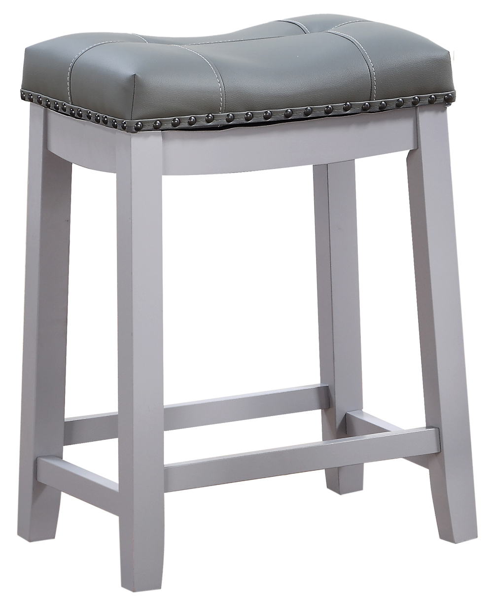 Angel Line Cambridge 24 Quot Padded Saddle Stool Gray W Gray