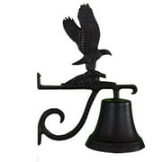 Montague Metal Products CB-1-72-SB Cast Bell With Satin Black Eagle Ornament
