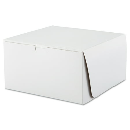SCT Tuck-Top Bakery Boxes, 10w x 10d x 5 1/2h, White,
