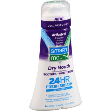 SmartMouth? Dry Mouth Clean Mint Activated Mouthwash? 16 fl. oz. Bottle