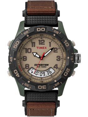 Men's Expedition Combo Watch, Brown Nylon Strap