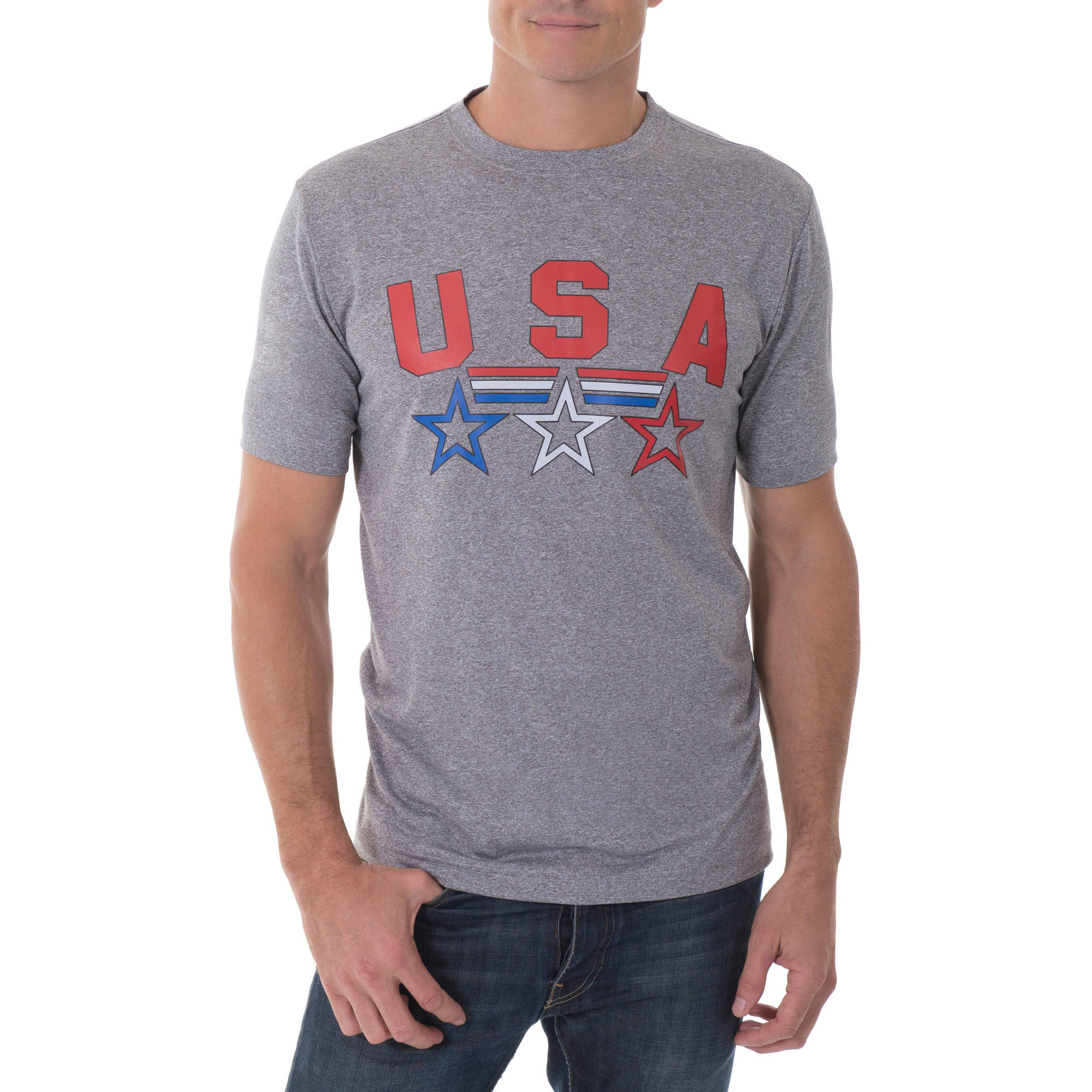 Faded Glory Men's Active Poly Tee