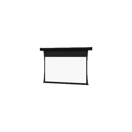 Da Lite Tensioned Cosmopolitan Electrol Video Format   Projection Screen   Ceiling Mountable  Wall Mountable   Motorized   Rear   180 In  179 9 In    4 3   Dual Vision   Black Powder Coat