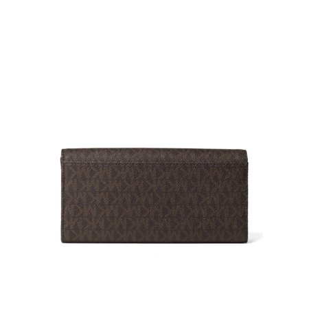 0f8416f856a1a1 Michael Kors - PVC Leather Fulton Flap Continental Wallet - Brown -  32S7GFTE3B-200 - Walmart.com