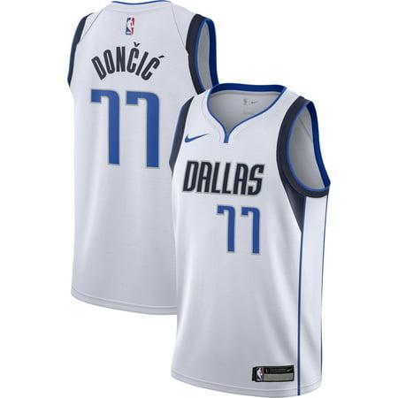 Nike Youth Dallas Mavericks Luka Doncic #77 White Dri-FIT Swingman Jersey