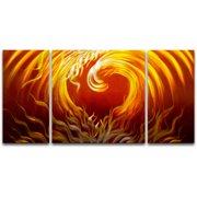 Metal Artscape Passion Burns 3 Piece Graphic Art Plaque Set