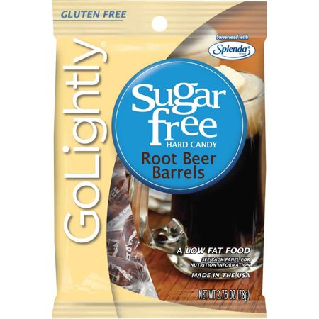 GO LIGHTLY SUGAR FREE CANDY Root Beer Barrels 2.75 oz. - Root Beer Barrels