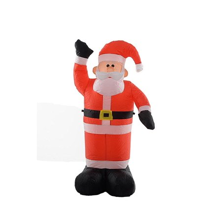 fun 4 foot self inflating illuminated santa claus yard decoration blow up inflatable