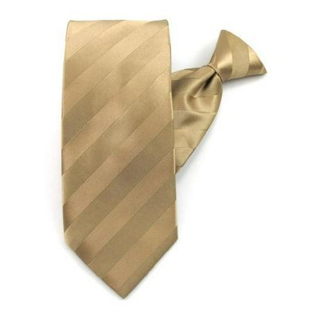 b2bbbd5cf1f6 Absolute Stores - Boys Dark Tan Solid Color Tonal Stripe Clip On Ties -  Walmart.com