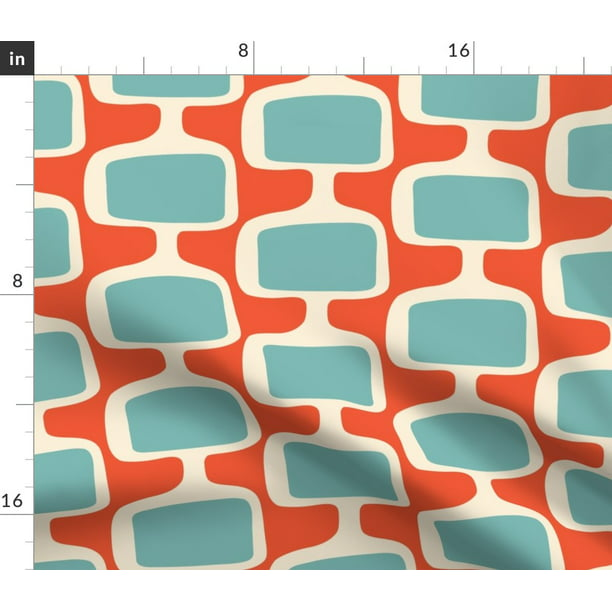 Retro Mod Upholstery And Mid Century Modern Fabric Printed By Spoonflower Bty Walmart Com Walmart Com,What Colors Go With Light Mint Green