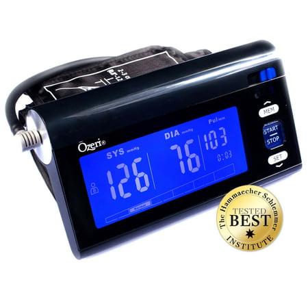 - Ozeri BP3T CardioTech Upper Arm Blood Pressure Monitor With Intelligent Hypertension Detection, Black