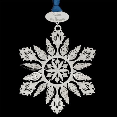 Chem Art 60595 4.25 in. Marvelous Snowflake Sisters Are Forever Handcrafted Christmas Ornament ()