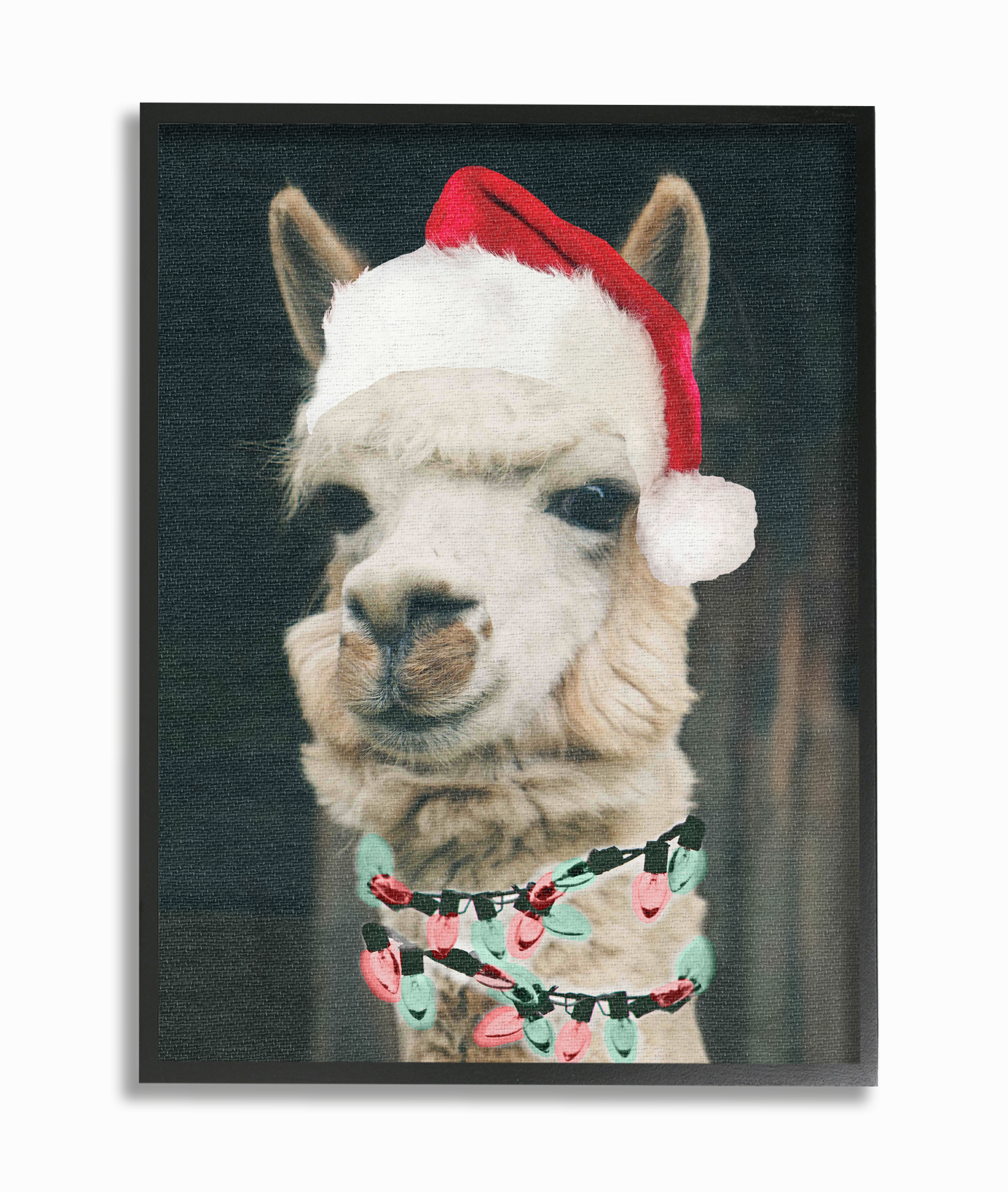 The Stupell Home Decor Collection Christmas Llama Oversized Framed Giclee Texturized Art,... by Stupell Industries