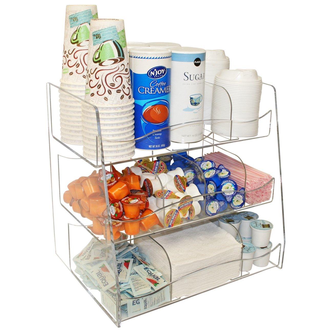 Coffee Condiment Organizer Clearly a First Class Presentation for You Customers.