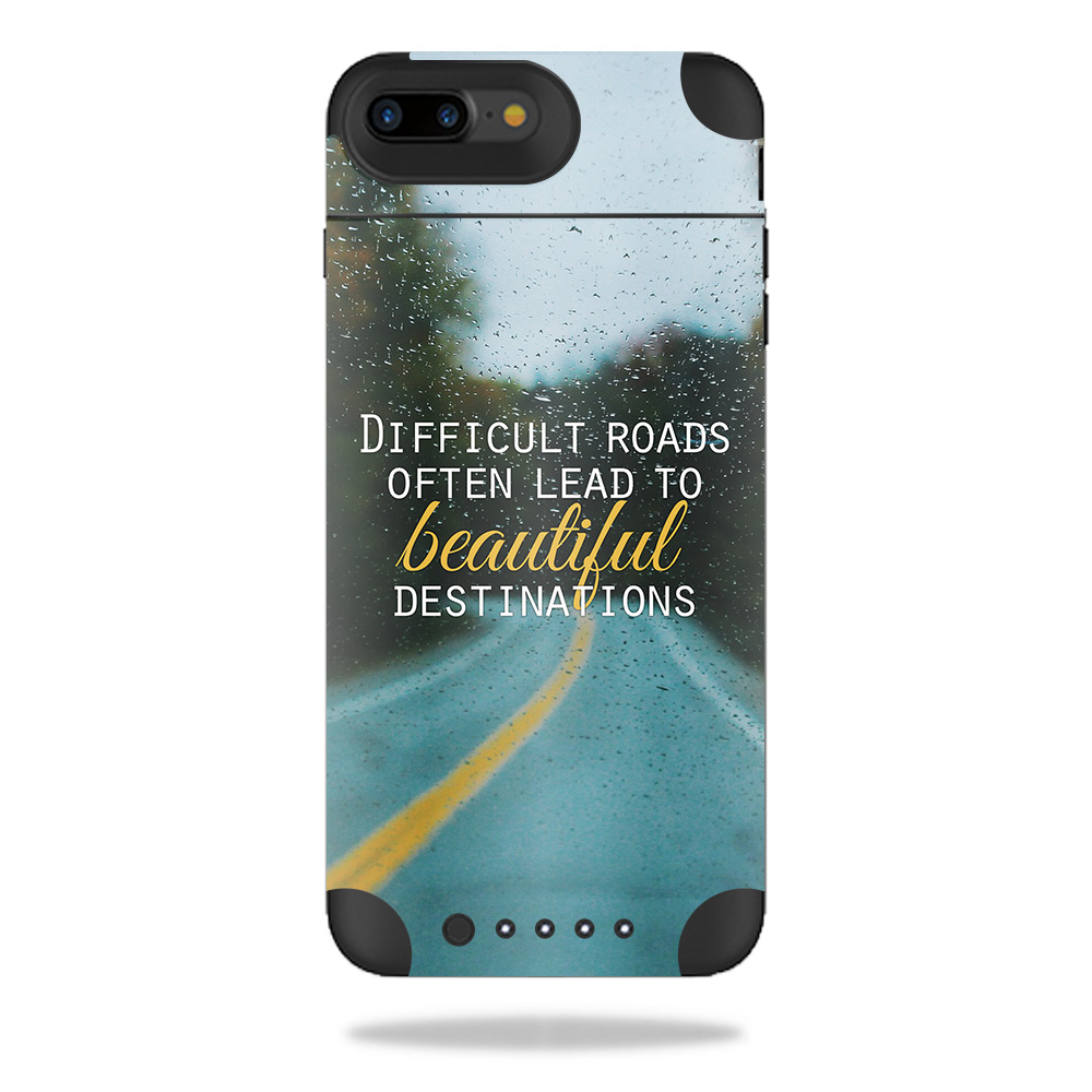 Skin For Mophie Juice Pack Air iPhone 7 Plus – Difficult Roads | MightySkins Protective, Durable, and Unique Vinyl Decal wrap cover | Easy To Apply, Remove, and Change Styles | Made in the USA