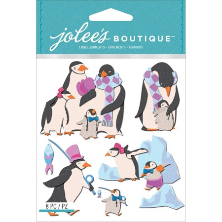 Dimensional Stickers, Penguin Family, Jolee's Boutique dimensional embellishments bring unique and interesting details to paper craft By Jolee's Boutique