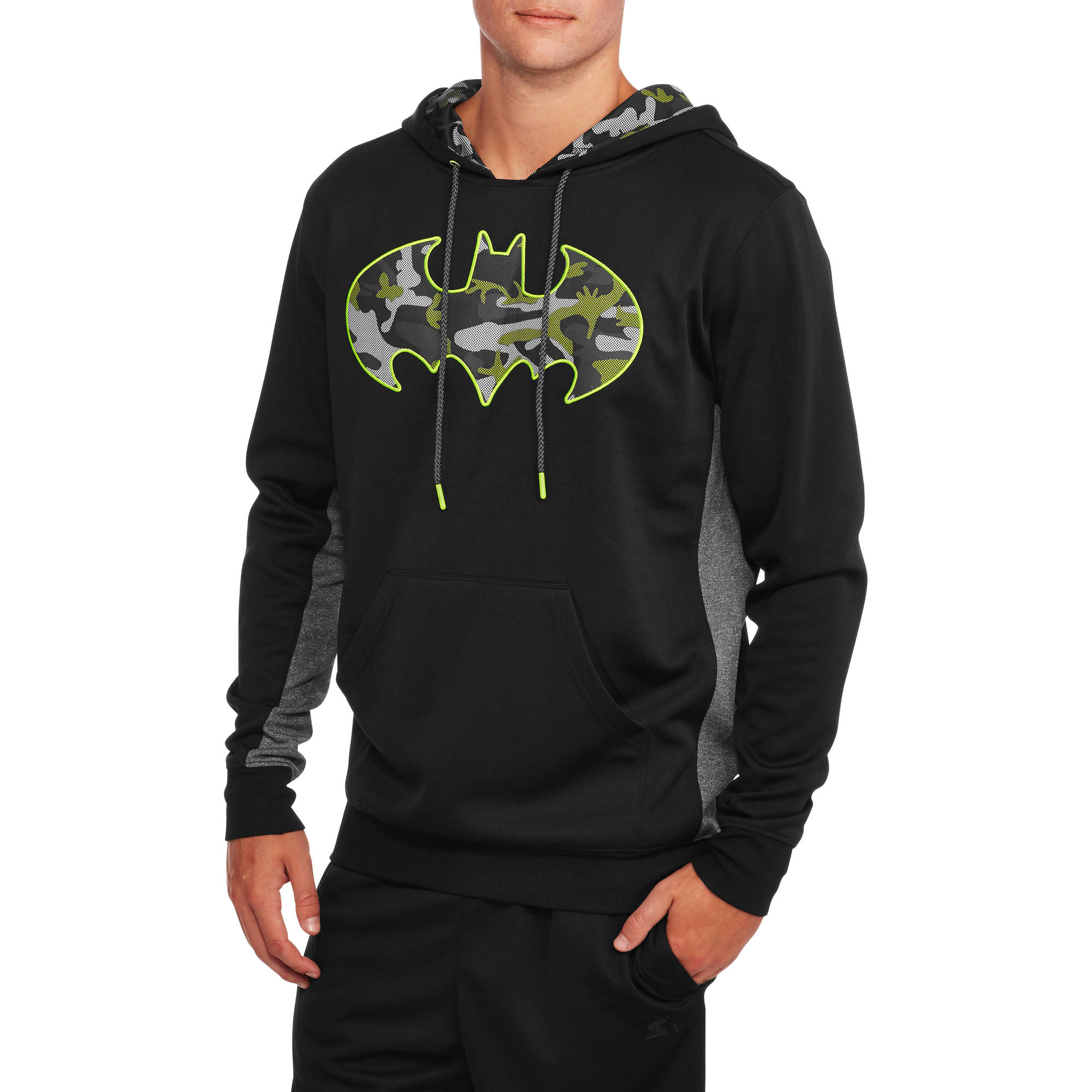 Batman Big Men's Poly Hoodie, 2XL by