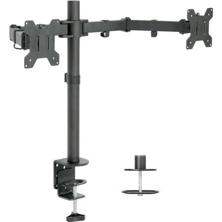 VIVO Dual LCD Monitor Desk Mount Stand Heavy Duty Fully Adjustable fits 2 Screens up to 27