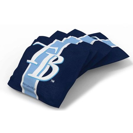 Tampa Bay Rays 4-Pack Striped Alternate Cornhole Bean Bags Set - No (Broken Ray Bans For Sale)