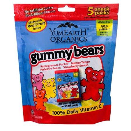 Yummyearth Bears Gummy Snk Pk 3.5 Ounce
