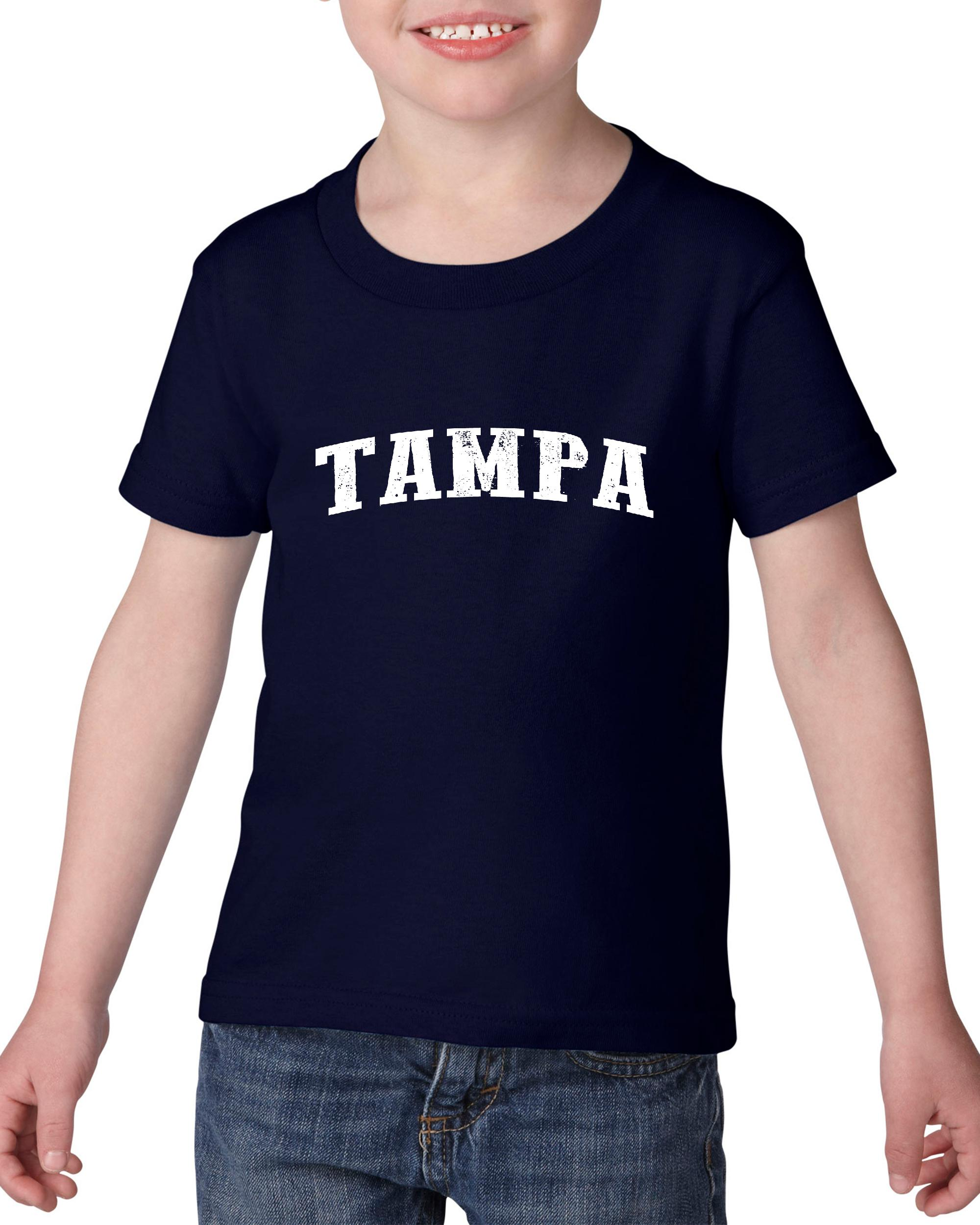 Artix Tampa FL Florida Map Flag Miami Orlando Home of University of Florida UF Heavy Cotton Toddler Kids T-Shirt Tee Clothing