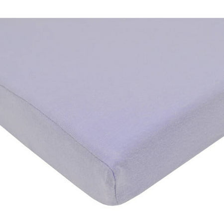American Baby Company Supreme 100% Natural Cotton Jersey Knit Fitted Crib Sheet for Standard Crib and Toddler Mattresses, Lavender, Soft Breathable, for