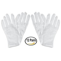 Framer Supply White Cotton Gloves, Large, 12 Pairs