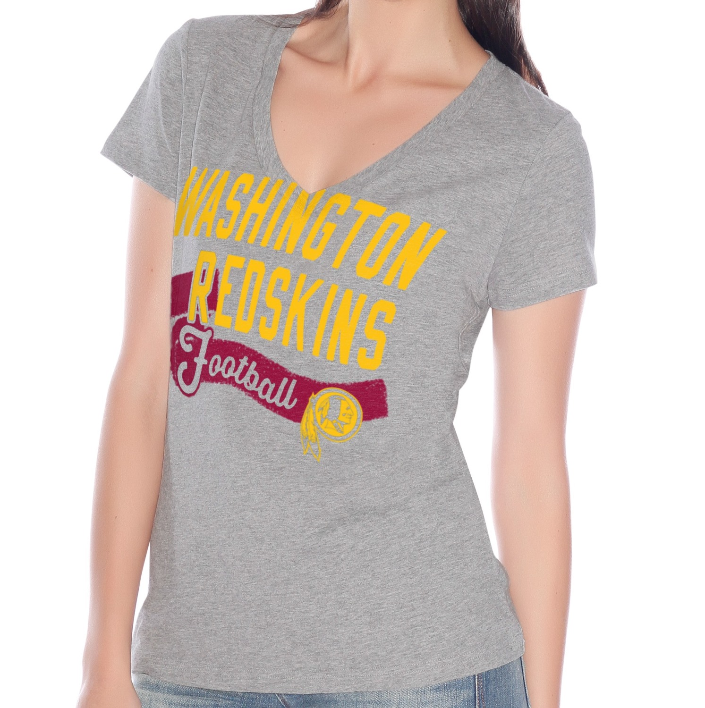 "Washington Redskins Women's G-III NFL ""Scout Team"" V-neck Grey T-shirt"