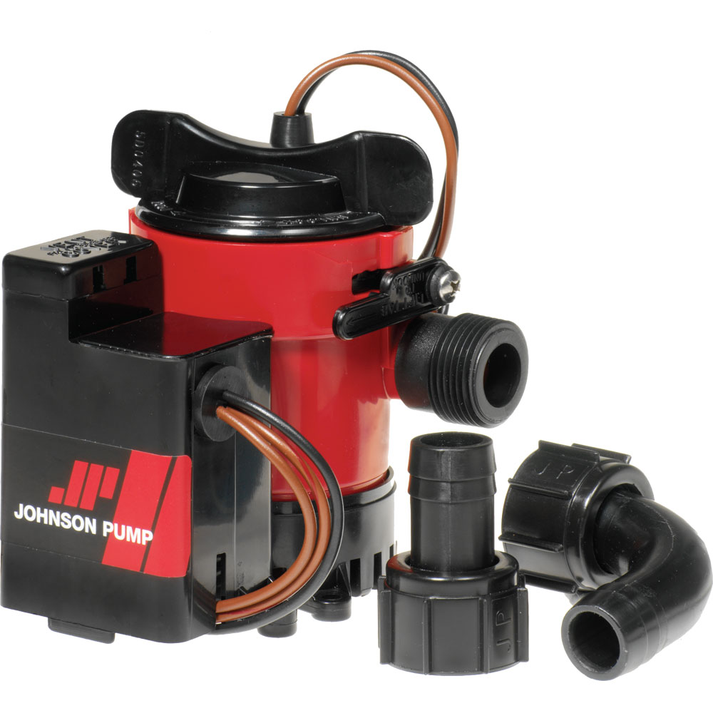 "Johnson Pump 38961M JOHNSON PUMP 750GPH AUTO BILGE PUMP 3/4"" HOSE MAG SWITCH 12V"
