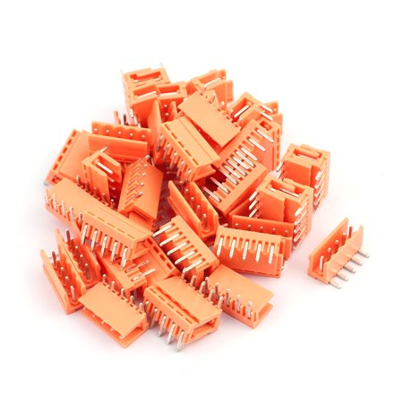50Pcs AC300V 3 96mm Pitch 5P Right Angle Needle Plug-In PCB Terminal