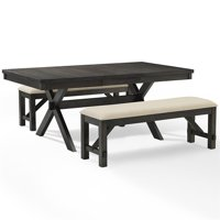 Crosley Hayden 3Pc Dining Set - Table, 2 Benches